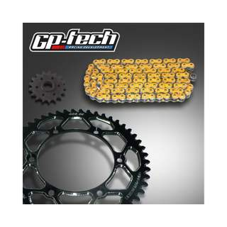 GP-TECH Kettenkit Kawasaki schwarz DID 520 VX2 X Ring